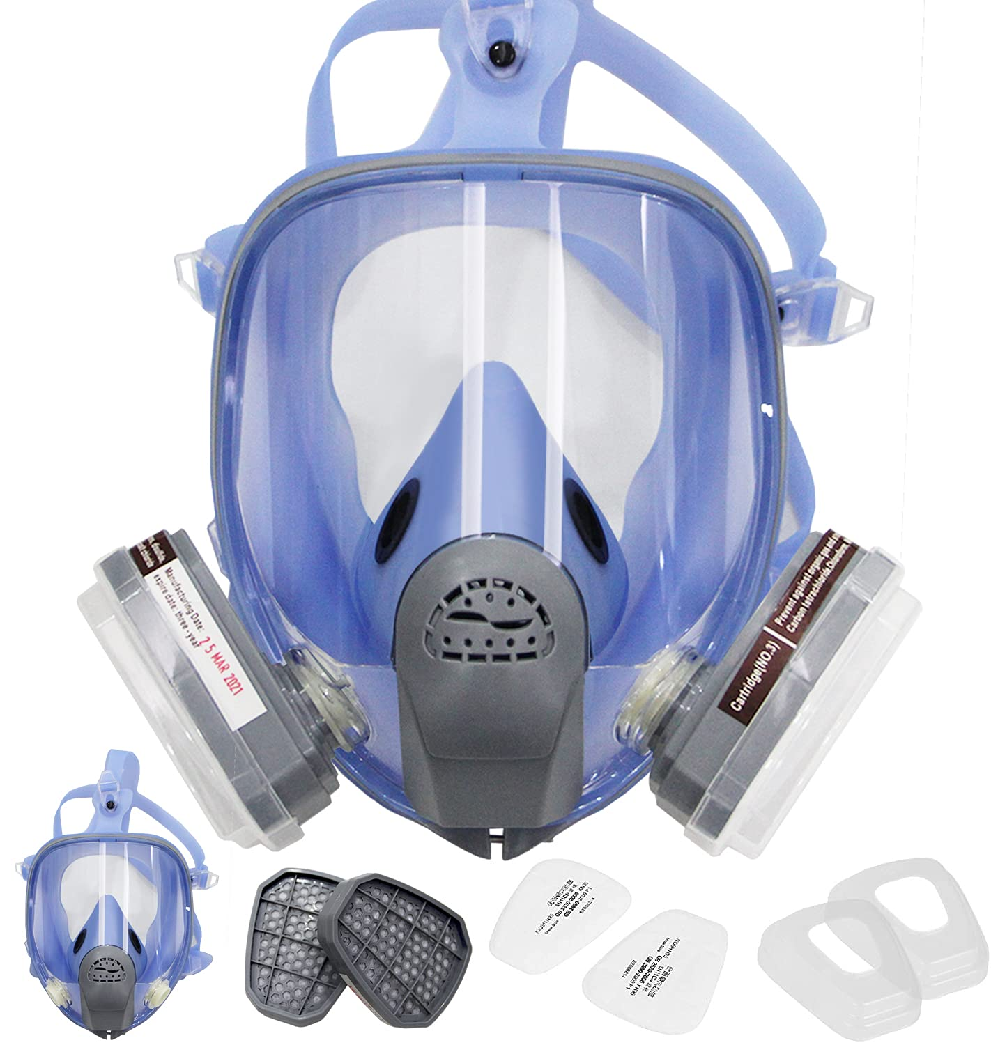 BHTOP Full Reusable Spring new work Respirator for Facepiece Twin Finally resale start Gas,Full