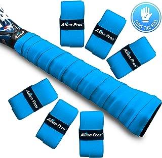 Alien Pros Tennis Racket Grip Tape (6 Grips) – Precut and Light Tac Feel Tennis Grip – Tennis Overgrip Grip Tape Tennis Racket – Wrap Your Racquet for High Performance (6 Grips)