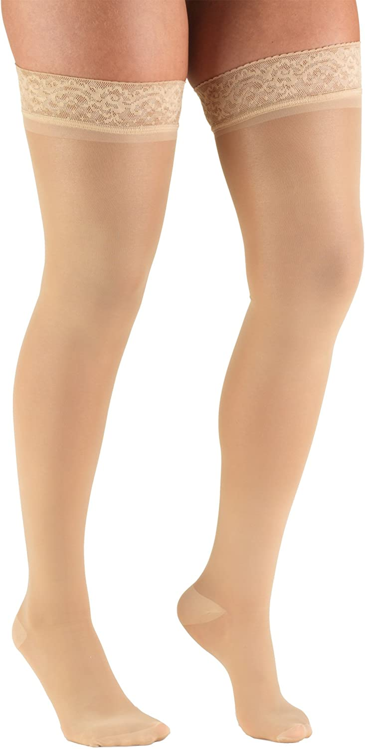 Truform Free shipping on posting reviews Sheer Compression Stockings Department store 30-40 Thigh mmHg H Women's