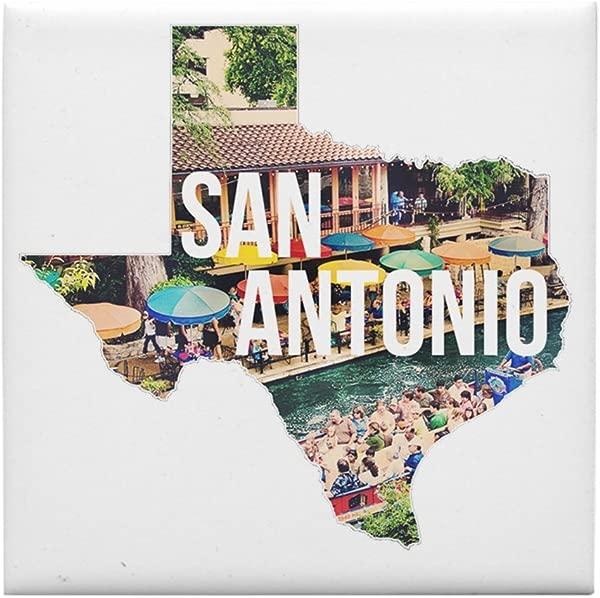 CafePress San Antonio Riverwalk Texas Tile Coaster Drink Coaster Small Trivet
