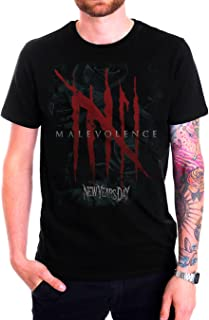 New Years Day Malevolence Album Cover Mens Black T Shirt American rock band