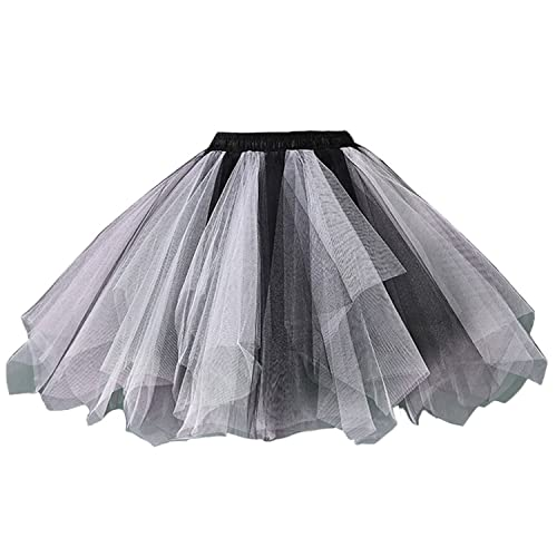 6767eacf1 Facent Women Girls Short Mini Tutu Tulle Skirt Underskirt Petticoat Ballet  Dance Fancy Dress Costume