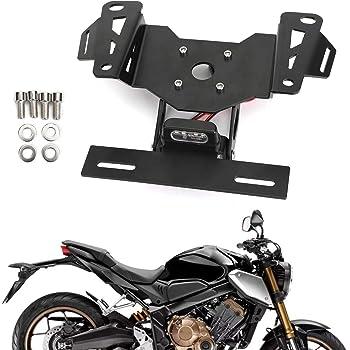 R/&G RACING Soporte de Placa para Honda CB650R Color Negro