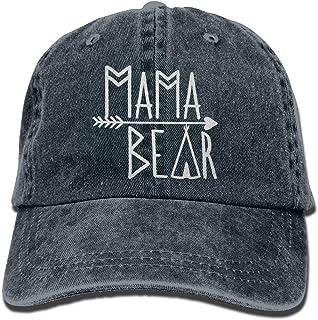 5e7314a15ff8d OASCUVER Mama Bear Denim Hat Adjustable Female Stretch Baseball Hats