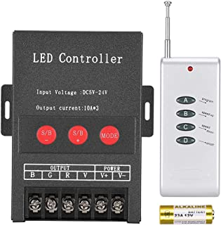 Fdit Controlador Led Kleurrijke Controlador Lichtbalk Controlador Modular Controlador RGB Controlador Sincronizar con la música Solicitar decoración de Navidad para Fiestas