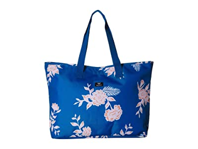 Roxy Wildflower Printed Tote (Mykonos Blue S Eglantine) Tote Handbags