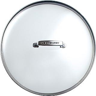 Le Creuset Tapa de cristal, Ø 24 cm, Práctico accesorio para las gamas de aluminio y hierro fundido, mango remachado de acero inoxidable