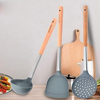 Kitchen Utensils Set,3 Pieces Silicone Kitchenware Kitchen Utensils Nylon Cooking Utensils Set,Kitchen Premium Nylon Cooki...