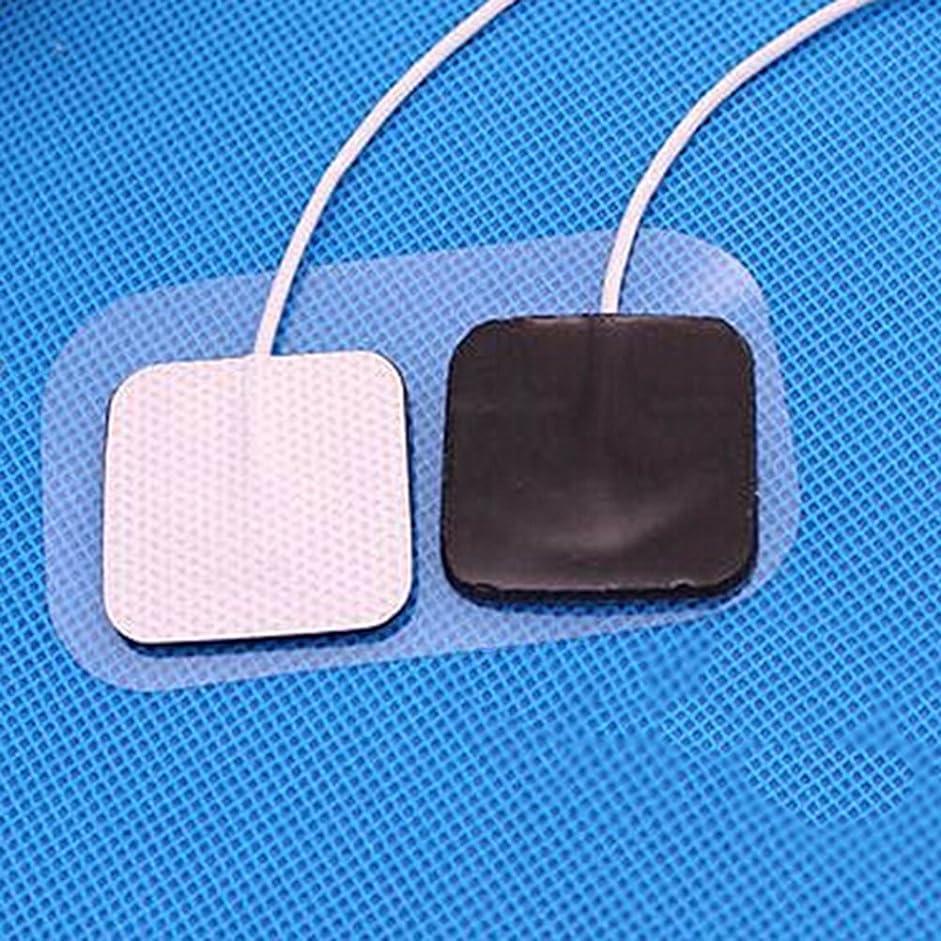 無実雪の薄汚いHealifty 筋肉刺激装置10個電極交換パッド2 mmプラグ付きTENS 7000/3000 / EMSデジタル治療機マッサージャー
