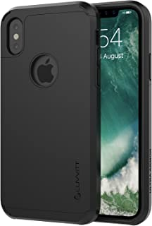 iPhone Xs Case, Luvvitt Ultra Armor Cover with Dual Layer Heavy Duty Protection and Air Bounce Technology for iPhone X and XS with 5.8 inch Screen 2017-2018 - Black