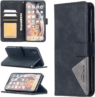 LODROC Lederen Portemonnee Case voor iPhone XSMax, [Kickstand Feature] Luxe PU Lederen Portemonnee Case Flip Folio Cover m...