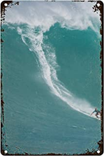 luxteen Eddie Aikau Surf Contest Novelty Sign Vintage Metal Tin Sign Wall Sign Plaque Poster