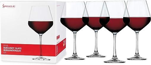 Spiegelau 4670180 Style Burgundy Wine Glasses - (Set of 4, Clear Crystal) 22.6 oz