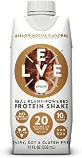 Evolve Protein Shake, Mellow Mocha, 20g Protein, 11 Fl Oz (Pack of 12)