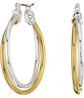 LAUREN Ralph Lauren - Stereo Hearts Large Double Link Hoop Earrings