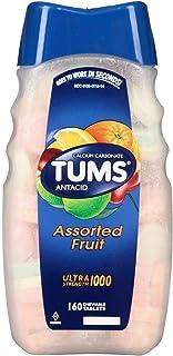 TUMS Antacid Ultra Strength 1000 Assorted Fruit 160 Tablets