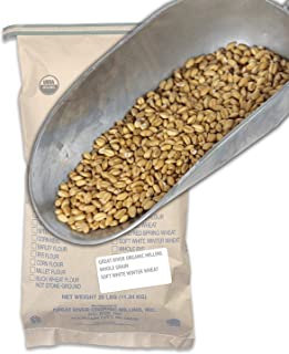 Great River Organic Milling, Whole Grain, Soft White Winter Wheat, Organic, 25-Pounds (Pack of 1)
