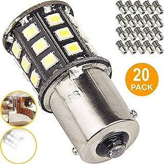 New Generation 1156 1141 1003 33-SMD LED Light bulb Use for RV Indoor Lights, Back Up Reverse Lights, Brake Lights, Tail Lights, Rear Turn Signal Lights (20-Pack, White 6000K-6500K)