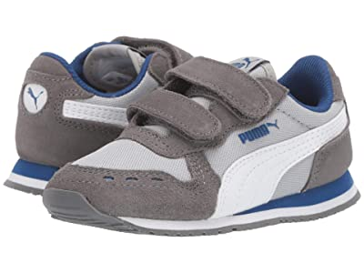 Puma Kids Cabana Racer NL V (Toddler) (High-Rise/Castlerock/PUMA White/Galaxy) Boys Shoes