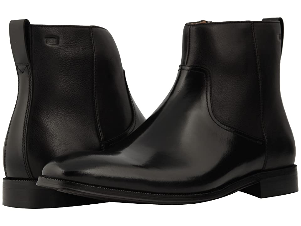 Florsheim Belfast Plain Toe Size Zip Boot (Black) Men