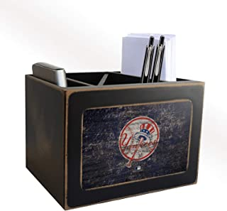 Fan Creations MLB New York Yankees Distressed Team Logo Desktop Organizer with Color