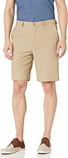 Haggar Men's Cool 18 Pro Straight Fit Stretch Solid Flat Front Short