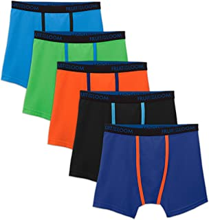 Fruit of the Loom Boys' Cooling Breathable Mesh Boxer Briefs