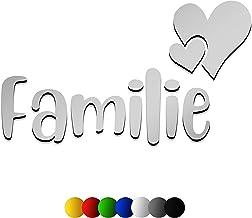 3D muursticker FAMILIE van hout met het lettertype | Dinosoria | in 7 verschillende kleuren en 3 maten. Spreuken voor de k...