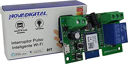 Interruptor Pulso Inteligente Wi-fi 7v 32v Automação Para Portão De Garagem, Persiana, Fechadura Eletrônica Compatível com...