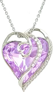 Women's Platinum Gold Necklace 925 Sterling Silver...