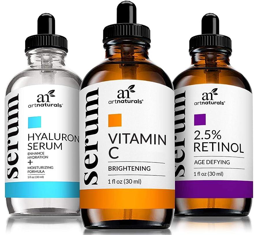 パックパーティー有罪Serum Trio Set?3-1 fl. oz/30?ML Vitamin-C/Retinol/Hyaluronic-Acid - (3 x 1 oz)