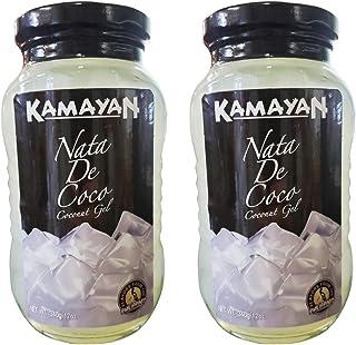 Kamayan White Nata De Coco Coconut Gel (2 Pack, Total of 24oz)