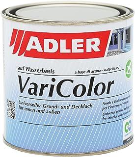 ADLER Varicolor 2-in-1 acryl kleurlak voor binnen en buiten, 750 ml, kleurloos, mat, kleurloos, weerbestendige lak en gron...