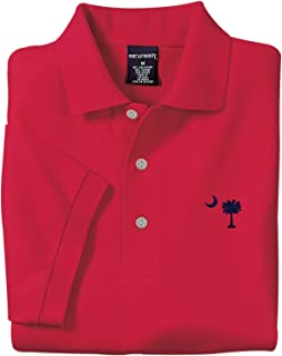 Red Embroidered Palmetto Moon Polo Shirt