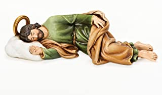 """Joseph's Studio by Roman - Sleeping St. Joseph Figure, Life of Christ, Renaissance Collection, 2.25"""" H and 8.25"""" W, Resin and Stone, Religious Gift, Decoration"""
