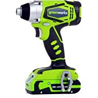 Greenworks 24V Cordless Impact Driver, 2.0 AH Battery Included