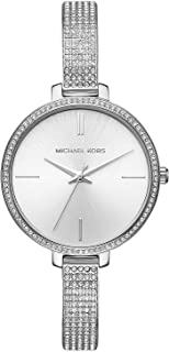 Michael Kors Women's Jaryn Watch Analog-Quartz Stainless-Steel Strap, Silver, 8 (Model: MK3783)