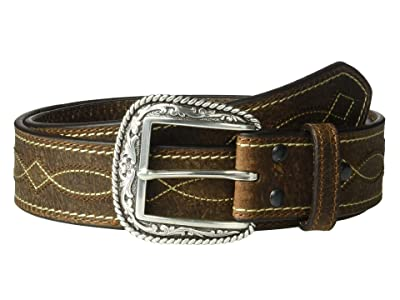 Ariat Center Boot Stitching Belt (Brown) Men