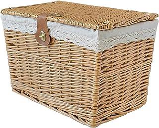 N\C ZSCC Grand Panier à Linge, boîte de Rangement pour Panier de Rangement avec Couvercle, boîte de Rangement pour Jouets ...