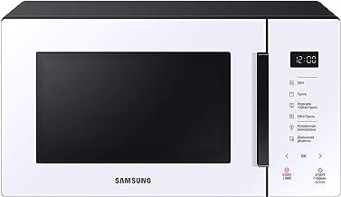 Samsung MG23T5018AW Horno Microondas, 23 litros, 1100 W, Cocción automática y Home Dessert, Glass Design, Blanco