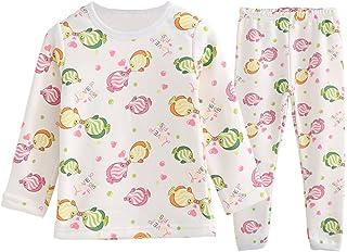 c8ea152b9fcf2 ZHUANNIAN Bébé Filles Garçons Polaire Pyjama Enfants Deux Pièces Manches  Longues T-Shirt Pantalon Ensemble