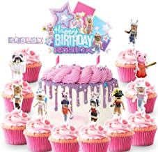 21 Cake Decorations for Roblox Cake Topper Cupcake Toppers Birthday Party Supplies Favor for Girl Fans