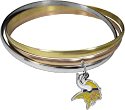 NFL Minnesota Vikings Womens Tri-color Bangle Bracelet