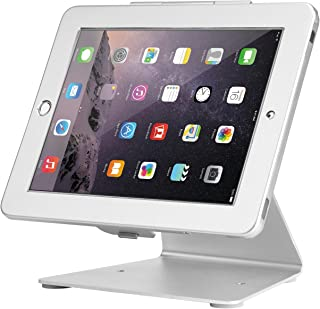 Firstand iPad Security Stand Holder, iPad Desktop Anti-Theft Security POS Stand Holder Enclosure with Lock and Key Compatible for iPad 2,3,4 and iPad air/air 2, iPad Pro 9.7