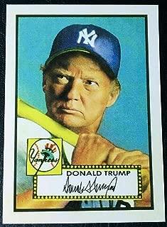 Donald Trump 2019 Baseball Card - Mickey Mantle 1952 Topps Rookie Card!