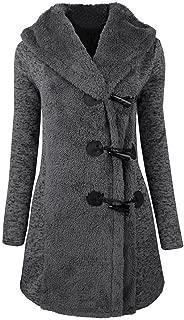 LISTHA Button Hoodie Long Coat Women Thick Warm Parka Jacket Outwear Overcoat