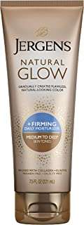 Jergens Natural Glow Plus Firming Daily Moisturizer, 221 ml, Medium to Tan, 7.5 Ounce (23869)