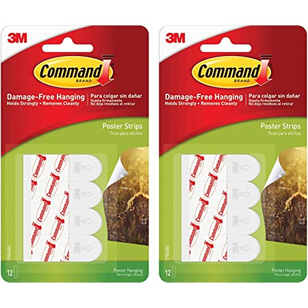 Command Poster Hanging Strips Clear 17024CLR 36 Strips