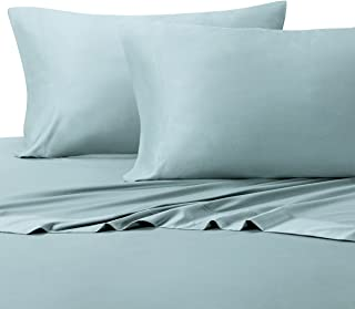 Royal Tradition 100 Percent Bamboo Bed Sheet Set, Twin Extra Long XL, Solid Blue, Super Soft and Cool Bamboo Viscose 3PC Sheets