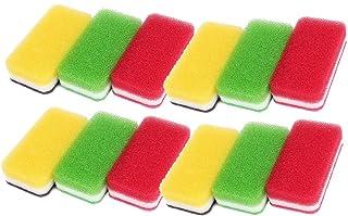 ダスキン スポンジ 抗菌タイプ (台所用) 12個入り 台所キッチンスポンジ キッチン用 油汚れ 長持ち (3色セット抗菌タイプS×4セット)